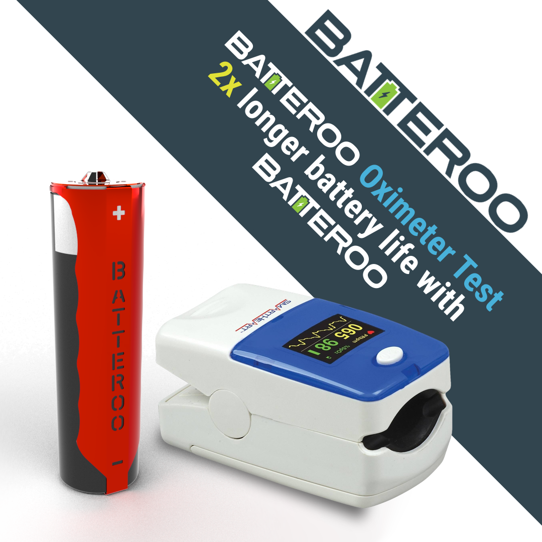 Batteroo Test with Oximeter (2x Battery Life Extension)